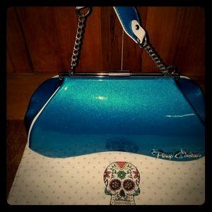 Pinup Couture Blue Retro Purse